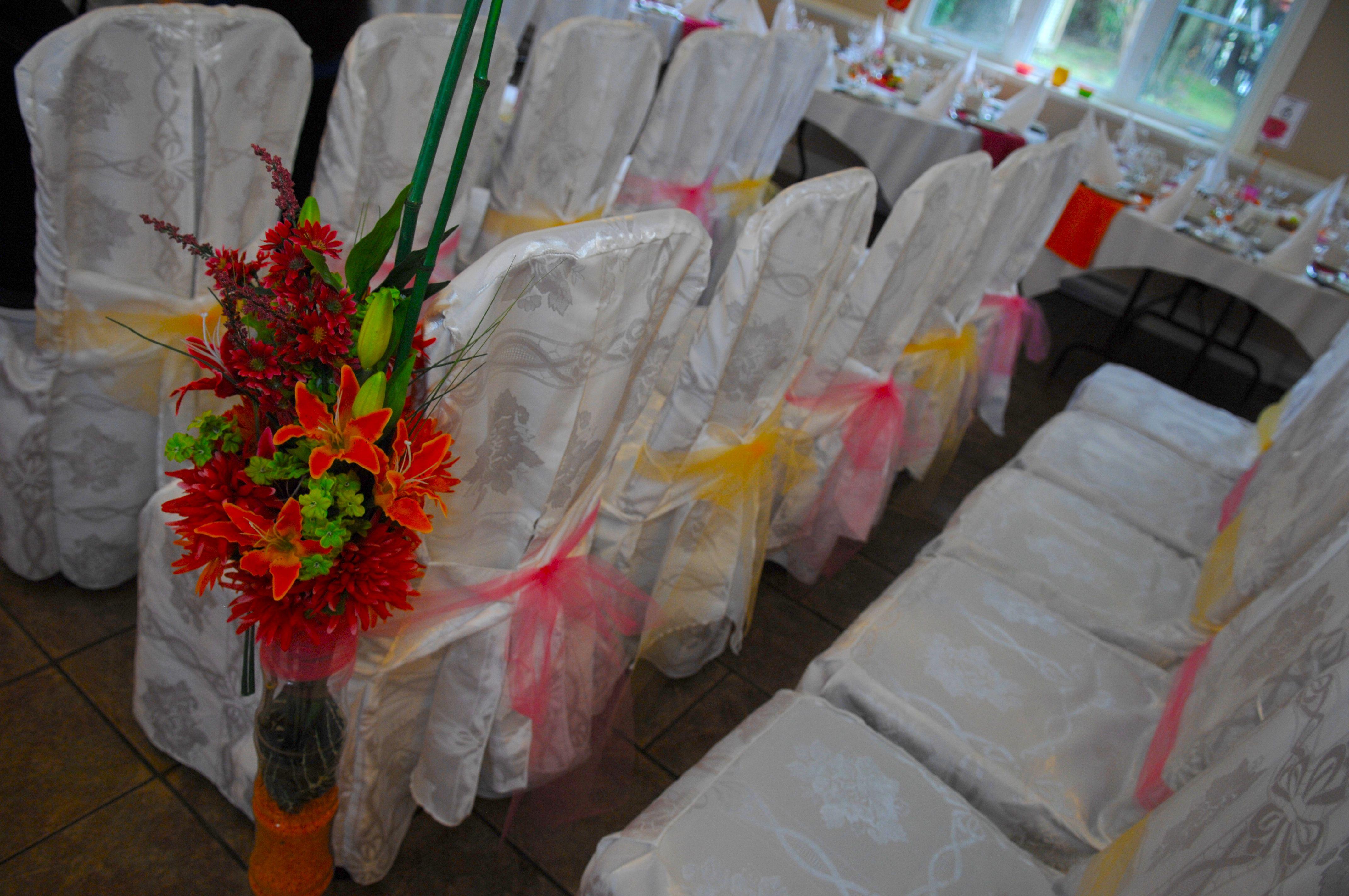 Aisle runner pour mariage en plein air peinture for Robes de mariage en plein air