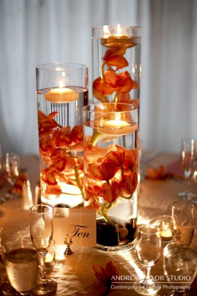 Floating wedding candle centerpieces robs viva