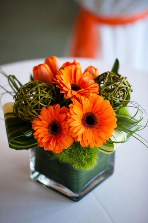 Gerberas un parfait mariage for Bouquet de fleurs orange et jaune