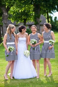 4. STRIPEDBridesmaid